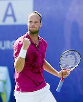 16-6-08, Rosmalen, Tennis,Ordina Open,   Martin Verkerk met een bekend trafreel, hij bald zijn vuist