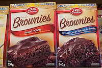 Betty Crocker Brownies mix (melange a Brownies) are seen in a Metro grocery store in Quebec city March 4, 2009. General Mills holds the Betty Crocker trademark.