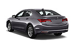 Car pictures of rear three quarter view of a 2018 Acura TLX AUTO 4 Door Sedan angular rear