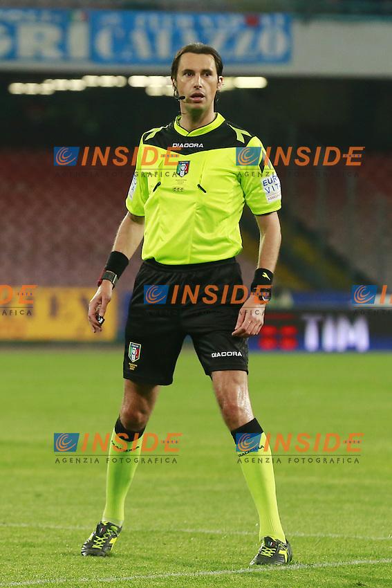 Arbitro Andrea Gervasoni, referee  <br /> Napoli 19-04-2016 Stadio San Paolo<br /> Football Calcio Serie A 2015/2016 Napoli - Bologna<br /> Foto Cesare Purini / Insidefoto
