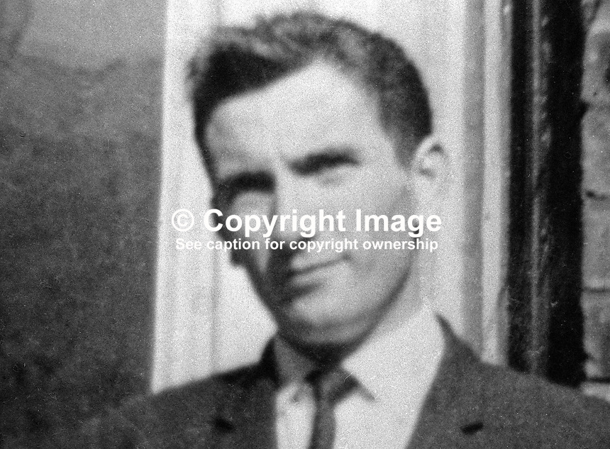 Frank Kerr, postman, Camlough, Co Armagh, who was abducted in November 1973 by the Provisional IRA whilst making deliveries in South Armagh, N Ireland. His van was robbed and he was held hostage for 4 days.On 10th November 1994 Mr Kerr was shot and later died after he struggled with Provisional IRA members robbing the Royal Mail sorting office in Newry. The incident occured during an IRA ceasefire. The IRA later admitted the raid and killing but denied it was a breach of the ceasefire. 19731123714FK.<br />