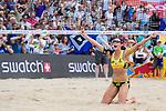 26.08.2017, Hamburg, Stadion Am Rothenbaum<br />Beachvolleyball, World Tour Finals<br /><br />Jubel Kira Walkenhorst (#2 GER) nach Matchball / SIeg<br /><br />  Foto © nordphoto / Kurth