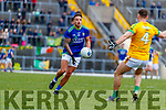 Micheál Burns, Kerry in action against David Toner, Meath during the Allianz Football League Division 1 Round 4 match between Kerry and Meath at Fitzgerald Stadium in Killarney, on Sunday.