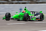 James Hinchcliffe (27) driver for Andretti Autosport in action during qualifying for the IZOD Indycar Firestone 550 race at Texas Motor Speedway in Fort Worth,Texas.