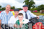 The Healy-Rae's enjoying the Kilgarvan agricultural show on Sunday l-r: Denis Healy-Rae, Michael Healy-Rae, Jack Healy-Rae and Jackie Healy-Rae..