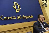 Roma, 29 settembre 2015<br /> Conferenza stampa di Matteo Salvini a Montecitorio