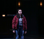 "Bel Powley taking her first performance curtain call bow for ""Lobby Hero"", marking Evans' Broadway debut and the inaugural performance at Second Stage's Hayes Theater on March 1, 2018 at The Hayes Theatre in New York City."