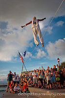 Street Performers at Mallory Square, Key West, Florida, USA. Photo by Debi Pittman Wilkey