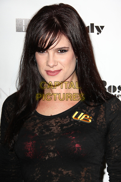 """TIFFANY MICHELLE. Lupus LA Raises Awareness with """"Get Lucky for Lupus"""" held At Andaz Hotel, West Hollywood, California, USA..February 25th, 2010.headshot portrait black lace top red bra see through thru.CAP/ADM/KB.©Kevan Brooks/AdMedia/Capital Pictures."""