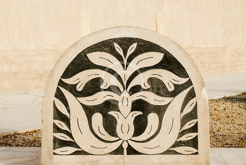 United Arab Emirates, Dubai, Floral design stonework