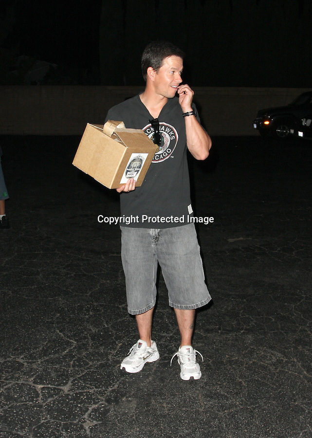 8-8-08 Mark Wahlberg leaving Matsushisa restaurant  in Hollywood.with a large box that says.The Lovely Bones ...AbilityFilms@yahoo.com.805-427-3519.www.AbilityFilms.com