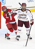 Jessica Campbell (Cornell - 8), Blake Bolden (BC - 10) - The Boston College Eagles defeated the visiting Cornell University Big Red 4-3 (OT) on Sunday, January 11, 2012, at Kelley Rink in Conte Forum in Chestnut Hill, Massachusetts.