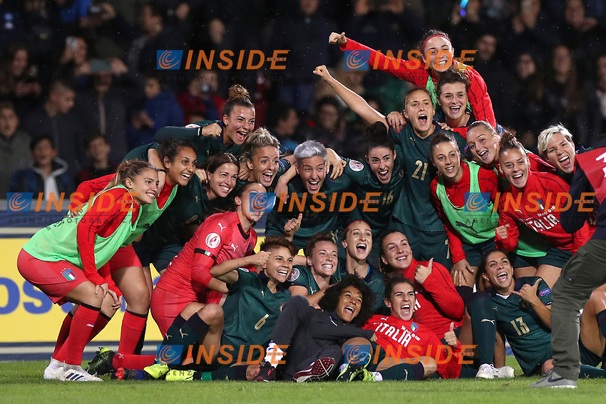 Italy celebrate at the end of the match<br /> Benevento 08-11-2019 Stadio Ciro Vigorito <br /> Football UEFA Women's EURO 2021 <br /> Qualifying round - Group B <br /> Italy - Georgia<br /> Photo Cesare Purini / Insidefoto