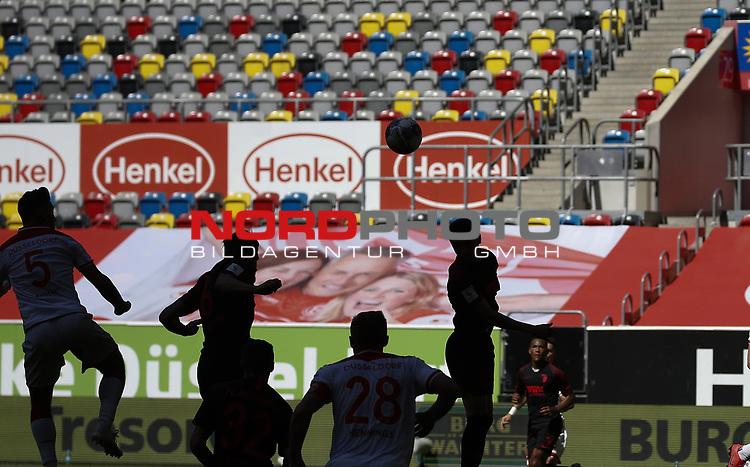 Schattenspiel in der leeren Merkur Spiel  Arena<br /><br />20.06.2020, Fussball, 1. Bundesliga, Saison 2019 / 2020<br />33.Spieltag, Fortuna Duesseldorf : FC Augsburg<br /><br />Foto : NORBERT SCHMIDT/POOL/ via Meuter/nordphoto<br /><br />Nur für journalistische Zwecke ! Only for editorial use .