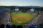 Night game at Dodger Stadium in Los Angeles, CA
