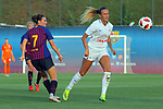 FC Barcelona vs Montpellier HSC: 1-2.<br /> Mariona Caldentey vs Virginia Torrecilla.