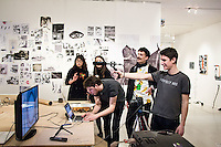 Computational Rube Goldberg Transcoder, Oliver Smith and Francesco Tacchini, 2014