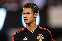 Mexico defender Diego Reyes (4). Mexico defeated the Ivory Coast 4-1 during an international friendly at MetLife Stadium in East Rutherford, NJ, on August 14, 2013.