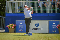 Shane Lowry (IRL) watches his tee shot on 10 during Round 2 of the Zurich Classic of New Orl, TPC Louisiana, Avondale, Louisiana, USA. 4/27/2018.<br /> Picture: Golffile | Ken Murray<br /> <br /> <br /> All photo usage must carry mandatory copyright credit (&copy; Golffile | Ken Murray)