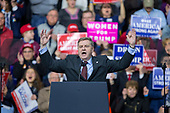 Rick Saccone, Republican Congressional candidate for Pennsylvania's 18th district, speaks to supporters during a Make American Great Rally at Atlantic Aviation in Moon Township, Pennsylvania on March 10th, 2018. Credit: Alex Edelman / CNP