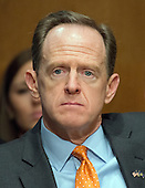 United States Senator Pat Toomey (Republican of IPennsylvania) during the US Senate Committee on Banking, Housing, and Urban Affairs confirmation hearing on the nomination of Dr. Benjamin Carson to be Secretary of Housing and Urban Development (HUD) on Capitol Hill in Washington, DC on Thursday, January 12, 2017.<br /> Credit: Ron Sachs / CNP