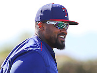 SURPRISE - March 2015: Prince Fielder of the Texas Rangers during a spring training workout on March 15th, 2015 at Surprise Recreation Campus in Surprise, Arizona. (Photo Credit: Brad Krause)