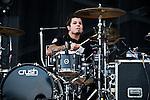 Dan Johnson of Love & Death performs during the 2013 Rock On The Range festival at Columbus Crew Stadium in Columbus, Ohio.