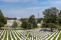 Washington Monument and Lincoln Memorial from Arlington Cemetery