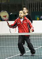 2011-02-07, Tennis, Rotterdam, ABNAMROWTT,  IKinderen spelen tennis in kidsvillage