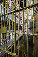 """The Missouri State Penitentiary,  in Jefferson City, Missouri,  operated from 1836-2004.  Part of the Missouri Department of Corrections, it served as the state of Missouri's primary maximum security institution. Before the prison closed in 2004, the Missouri State Penitentiary was the oldest operating penal facility west of the Mississippi—it was already 98 years old when Alcatraz opened in San Francisco. The prison's often-inhumane conditions earned it the title of """"bloodiest 47 acres in America"""" in a 1967 TIME Magazine article."""