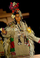 The amazing and unique costumes and jewelry of Ladakh on display as the local ethnic Ladakhis perform traditional dances in the shadow of the Himalayan moutnains