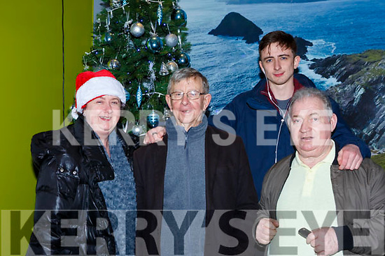 Irene Grindell and Shane O'Connor were welcomed hom to Kerry by William O'Connor and Donal McGlynn at Kerry Airport on Monday