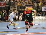 10.01.2019, Mercedes Benz Arena, Berlin, GER, Handball WM 2019, Deutschland vs. Korea, im Bild <br /> Martin Strobel (GER #19), Jeong Jaewan (Korea # 52)<br />      <br /> Foto © nordphoto / Engler