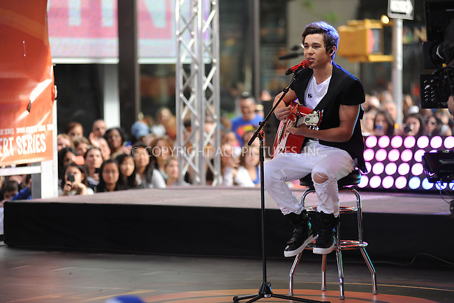 WWW.ACEPIXS.COM<br /> May 26, 2014 New York City<br /> <br /> Austin Mahone on NBC Today on Rockefeller Plaza on May 26, 2014 in New York City.<br /> <br /> Please byline: Kristin Callahan/ACE Pictures<br /> <br /> ACEPIXS.COM<br /> <br /> Tel: (212) 243 8787 or (646) 769 0430<br /> e-mail: info@acepixs.com<br /> web: http://www.acepixs.com