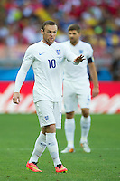 Wayne Rooney of England looks apologetic