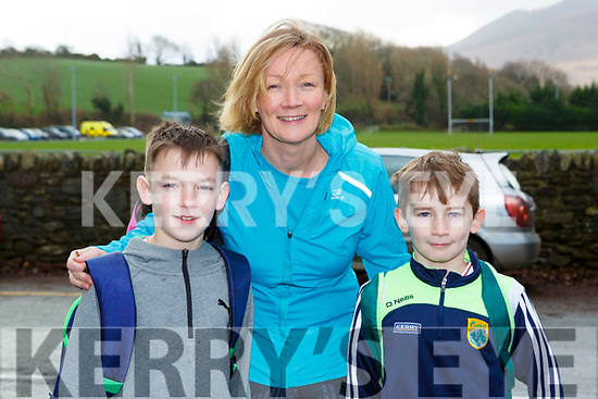 Eanna, Marie and Fergal Murphy Listry who ran in the Beaufort 10k on New Years Day