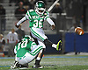Seaford No. 36 Josh Pinnoch splits the uprights for a successful point after touchdown during a Nassau County varsity football Conference IV semifinal against Clarke at Hofstra University on Thursday, Nov. 12, 2015. Seaford went to halftime leading 42-0.<br /> <br /> James Escher