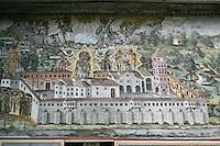 BG51487.JPG BULGARIA, BATCHKOVO MONASTERY, Refectory, 1601, frescoes