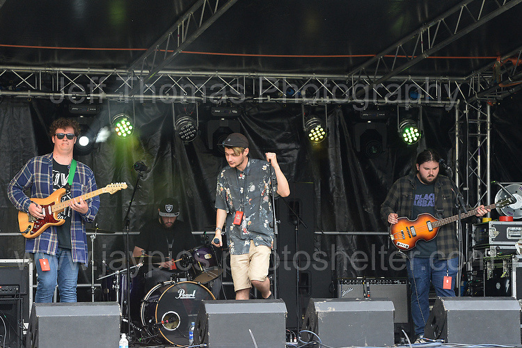 First band on stage Tracy Island during the Merthyr Rising Festival 2016 in Merthyr Tydfil on Saturday June 4th and Sunday June 5th 2016. <br /> <br /> <br /> Jeff Thomas Photography -  www.jaypics.photoshelter.com - <br /> e-mail swansea1001@hotmail.co.uk -<br /> Mob: 07837 386244 -