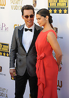 Matthew McConaughey &amp; Camila Alves at the 19th Annual Critics' Choice Awards at The Barker Hangar, Santa Monica Airport.<br /> January 16, 2014  Santa Monica, CA<br /> Picture: Paul Smith / Featureflash