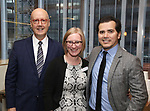 Bruce E. Whitacre, Heather A. Hitchens and John Leguizamo attends the Theatre Forward Broadway Roundtable on February 2, 2018  at UBS in New York City.