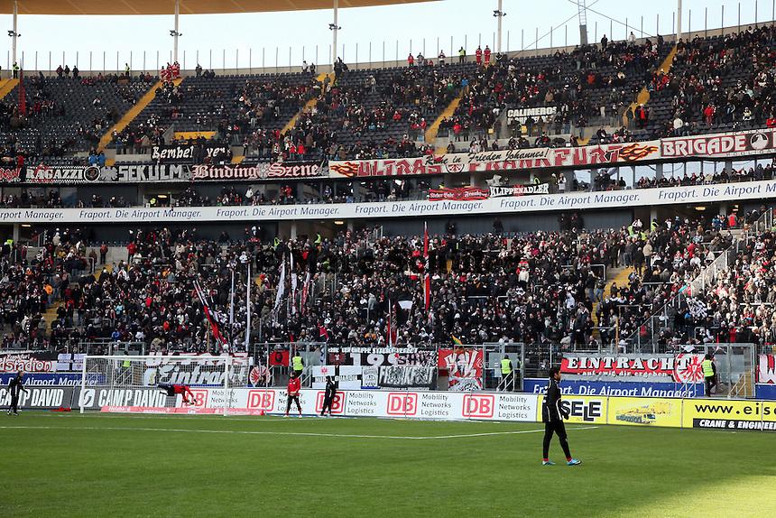 Fanblock von Eintracht Frankfurt