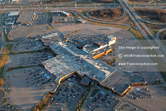 Les Galeries de la Capitale shopping mall in Quebec city is pictured in this aerial photo November 11, 2009. Most visited mall largest mall in the city, Les Galeries de la Capitale has 280 stores, 35 restaurants and the IMAX theater with the largest screen in Canada.