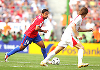 Carlos Hernandez (16) of Costa Rica makes a move. Poland defeated Costa Rica 2-1 in their FIFA World Cup Group A match at FIFA World Cup Stadium, Hanover, Germany, June 20, 2006.
