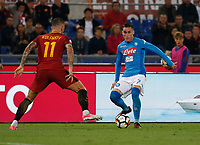 Jose Callejon  during the  italian serie a soccer match, AS Roma -  SSC Napoli       at  the Stadio Olimpico in Rome  Italy , 14 ottobre 2017