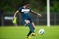 Sky Blue FC forward Danesha Adams (9). Sky Blue FC defeated the Seattle Reign FC 2-0 during a National Women's Soccer League (NWSL) match at Yurcak Field in Piscataway, NJ, on May 11, 2013.