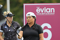 Christina Kim (USA) prepares to tee off the 6th tee during Friday's Round 2 of The Evian Championship 2018, held at the Evian Resort Golf Club, Evian-les-Bains, France. 14th September 2018.<br /> Picture: Eoin Clarke | Golffile<br /> <br /> <br /> All photos usage must carry mandatory copyright credit (&copy; Golffile | Eoin Clarke)