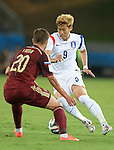 (R-L) Son Heung-Min (KOR), Viktor Fayzulin (RUS),<br /> JUNE 17, 2014 - Football / Soccer :<br /> FIFA World Cup Brazil 2014 Group H match between Russia 1-1 South Korea at Arena Pantanal in Cuiaba, Brazil. (Photo by SONG Seak-In/AFLO)