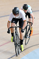 Patrick Clancy (L) of Waikato BOP and Michael Richmond of West Coast North Island compete in the U17 Boys Sprint race  at the Age Group Track National Championships, Avantidrome, Home of Cycling, Cambridge, New Zealand, Friday, March 17, 2017. Mandatory Credit: © Dianne Manson/CyclingNZ  **NO ARCHIVING**