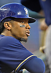 21 September 2012: Milwaukee Brewers infielder Rickie Weeks stands ready for the start of play prior to a game against the Washington Nationals at Nationals Park in Washington, DC. The Brewers rallied in the 9th inning to defeat the Nationals 4-2 in the first game of their 4-game series. Mandatory Credit: Ed Wolfstein Photo